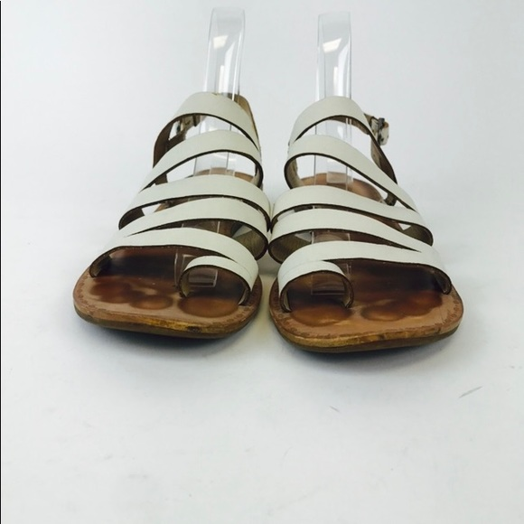 9a94ef473a3 Lucky Brand Fairfaxx White Strappy One Toe Sandals. Lucky Brand.  M 5ab466602ab8c554be6780ef. M 5b04676c00450f2aad90cc97.  M 5ab466625521be589dcb5086
